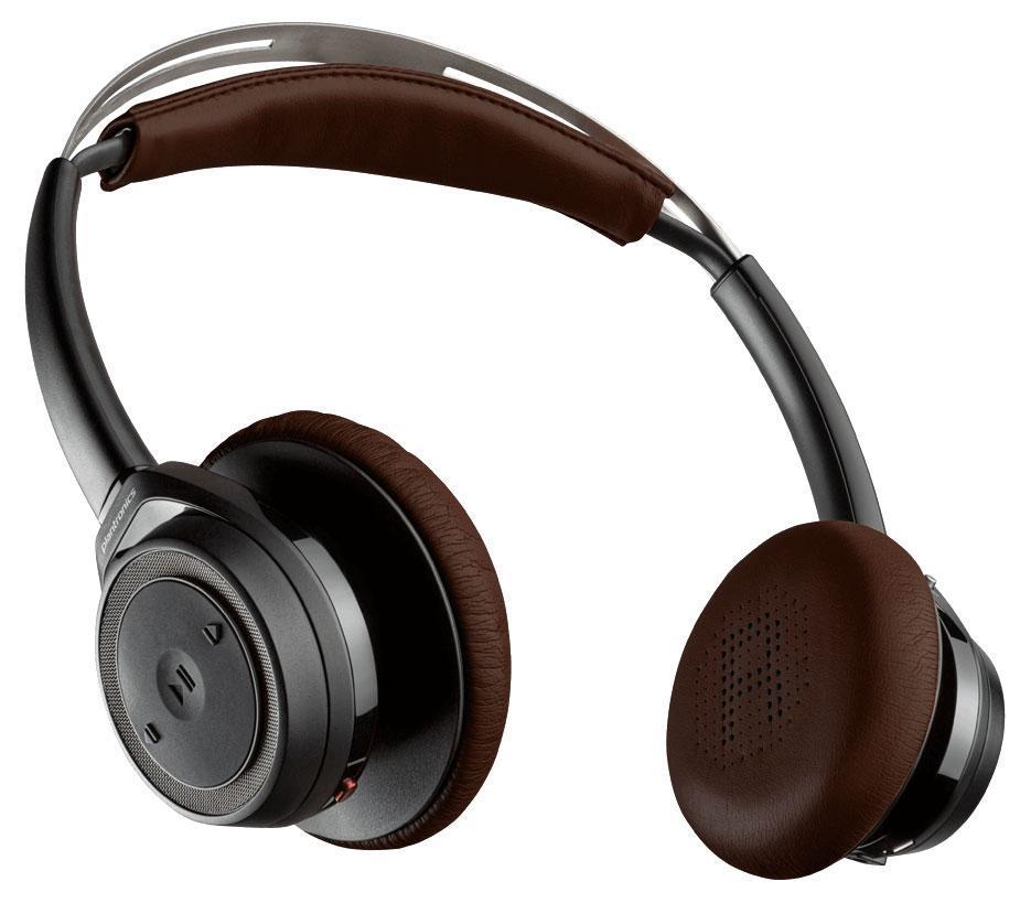 Plantronics BackBeat Sense, Black Bluetooth-гарнитура202649-05Интеллектуальные беспроводные технологии Оцените широкие возможности благодаря инновационным интеллектуальным технологиям. Потоковое воспроизведение аудио приостанавливается при снятии наушников и возобновляется при их надевании. Управляйте двумя устройствами с поддержкой Bluetooth, такими как смартфон и планшет, на расстоянии до 100 м без единого прикосновения. Слушайте только то, что важно для вас Погрузитесь в мир музыки, прослушивая свои списки воспроизведения и подкасты, пока вы занимаетесь повседневными делами. Благодаря времени работы в беспроводном режиме до 18 часов с возможностью подключения кабеля после разрядки аккумулятора можно ни на минуту не отрываться от прослушивания музыки. При поступлении входящего вызова воспроизведение музыки автоматически приостанавливается. Комфорт в течение всего дня Оцените удобство наушников BackBeat SENSE. Благодаря амбушюрам с мягкими накладками из поролона с эффектом памяти и саморегулирующемуся оголовью вы будете чувствовать себя...