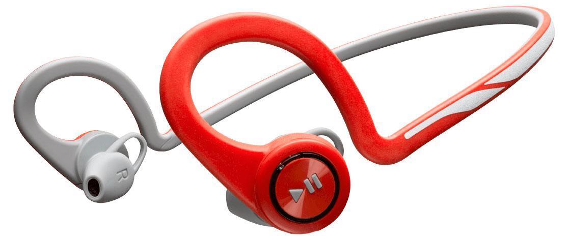 Plantronics BackBeat Fit, Red Bluetooth-гарнитура200470-05Удобные, надежные, созданные для активного образа жизни Каким бы видом спорта вы ни занимались, вас всегда будут сопровождать гибкие и устойчивые к влаге беспроводные стереонаушники Plantronics BackBeat FIT. Благодаря великолепному качеству звучания вы четко слышите музыку, а дизайн, разработанный с учетом требований безопасности, позволяет слышать окружающие звуки и быть заметным в темноте. Многофункциональный нарукавник защищает ваш смартфон во время движения и служит для хранения наушников после тренировки — идеально подходит для занятий спортом. Созданы для тренировок Удобные, надежные и созданные для активного образа жизни наушники BackBeat FIT обладают гибкой конструкцией, удобно фиксируются и остаются на месте во время любых упражнений. Легко доступные элементы управления, расположенные на ухе, позволяют вам двигаться и управлять воспроизведением музыки или телефонными вызовами, а неопреновый нарукавник, входящий в состав комплекта, надежно защищает ваш смартфон. По...