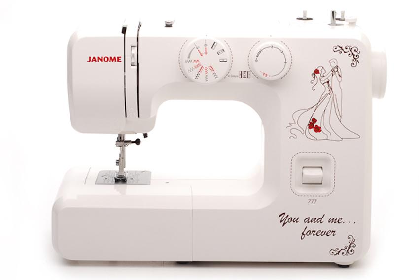 Janome 777 швейная машина4933621704230Универсальная швейная машина Janome 777 работает со всеми видами тканей, в том числе джинса и кожа, трикотаж. Модель рассчитана на интенсивный режим эксплуатации. Имеет металлическую раму и металлический челночный механизм. свободный рукав регулировка скорости с помощью реостатной педали накладка на игольную пластину для вышивки и штопки шитье двойной иглой (приобретается отдельно) Выполняет рабочие операции: прямая, зигзаг, эластичные строчки для трикотажных тканей, отделка фестоном, оверлочная строчка, потайная подшивка низа, штопка, вышивка и т.п.