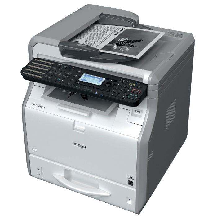 Ricoh SP 3600SF МФУ407308МФУ Ricoh SP 3600SF идеально в том, что касается экономичной черно-белой печати, копирования, сканирования и отправки факсов. Привлекательная цена и низкая совокупная стоимость владения делает эти модели разумным долгосрочным капиталовложением. Новый контроллер Ricoh, обеспечивающий непревзойденную скорость работы, повысит производительность вашего офиса. Компактный размер позволяет разместить МФУ прямо на рабочем столе, а фронтальный доступ к устройствам облегчает их обслуживание. Ricoh SP 3600SF поможет вам повысить продуктивность работы без ущерба для окружающей среды. Время прогрева: 14 секунд Оперативная память: 512 МБ Сканирование лазерным лучом и электрографическая печать Масштабирование: От 25% до 400% с шагом 1% Среды Windows: Windows XP, Windows Vista, Windows 7, Windows 8, Windows 8.1, Windows Server 2003, Windows Server 2003R2, Windows Server 2008, Windows Server 2008R2, Windows Server 2012, Windows Server 2012R2 Среды Mac...
