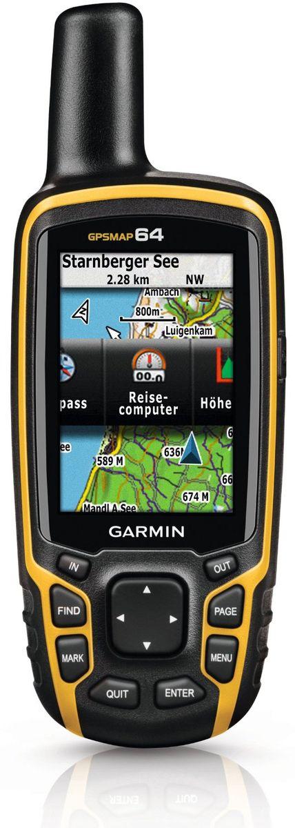 Навигационный приемник Garmin GPSMAP 64 Rus (010-01199-01)010-01199-01Навигационный приемник Garmin GPSMAP 64 поставляется с встроенной базовой картой мира с затененным рельефом и предзагруженными картами Дороги России ТОПО. Таким образом, у вас под рукой будут все необходимые инструменты для пешего туризма и альпинизма. Карты включают в себя национальные, государственные или местные парки и леса, контуры рельефа, информацию о высоте, тропы, реки, озера и различные объекты. С помощью антенны quad helix и высокочувствительного приемника GPS и GLONASS прибор GPSMAP 64 быстро и точно рассчитывает ваше местоположение, не теряя сигнал даже под плотными кронами деревьев и в глубоких оврагах. Преимущество очевидно – вы можете полностью полагаться на GPSMAP 64 и в глухом лесу, и около высоких зданий и деревьев. Используя внутреннюю память 4 ГБ и слот для дополнительных карт памяти microSD, вы можете легко добавить другие подробные карты - топографические, морские и автомобильные. Яхтсмены оценят карты BlueChart G2, а ...