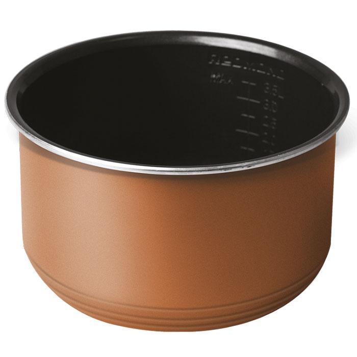 Redmond RB-С530 чаша для мультиварки, 5 лRB-С530Пятилитровая чаша Redmond RB-С530 с высококачественным керамическим антипригарным покрытием отлично подойдет для жарки, выпечки, варки молочных каш. Можно использовать чашу вне мультиварки в качестве посуды для хранения продуктов в холодильнике или для приготовления блюд в духовом шкафу.