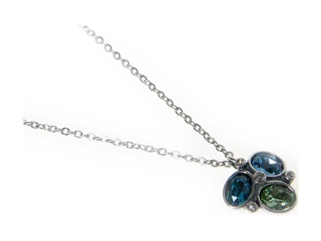 Кулон Jenavi Коллаж, цвет: серебряный, голубой, зеленый, бирюзовый. b9653940b9653940Элегантный кулон Jenavi Коллаж выполнен из бижутерийного сплава. Кулон оформлен тремя крупными гранеными кристаллами Swarovski овальной формы и тремя маленькими кристаллами. Изделие застегивается на практичный замок-карабин, длина цепочки регулируется за счет дополнительных звеньев. Стильный кулон придаст вашему образу изюминку, подчеркнет индивидуальность.