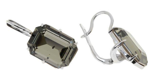 Серьги Jenavi Коллекция Погода Шквал, цвет: серебряный, серый. e514f166. Размер 1,7/0,7e514f166Коллекция Погода, Шквал (Серьги) гипоаллергенный ювелирный сплав,Серебрение c род. , вставка Кристаллы Swarovski , цвет - серебряный, серый избегать взаимодействия с водой и химическими средствами