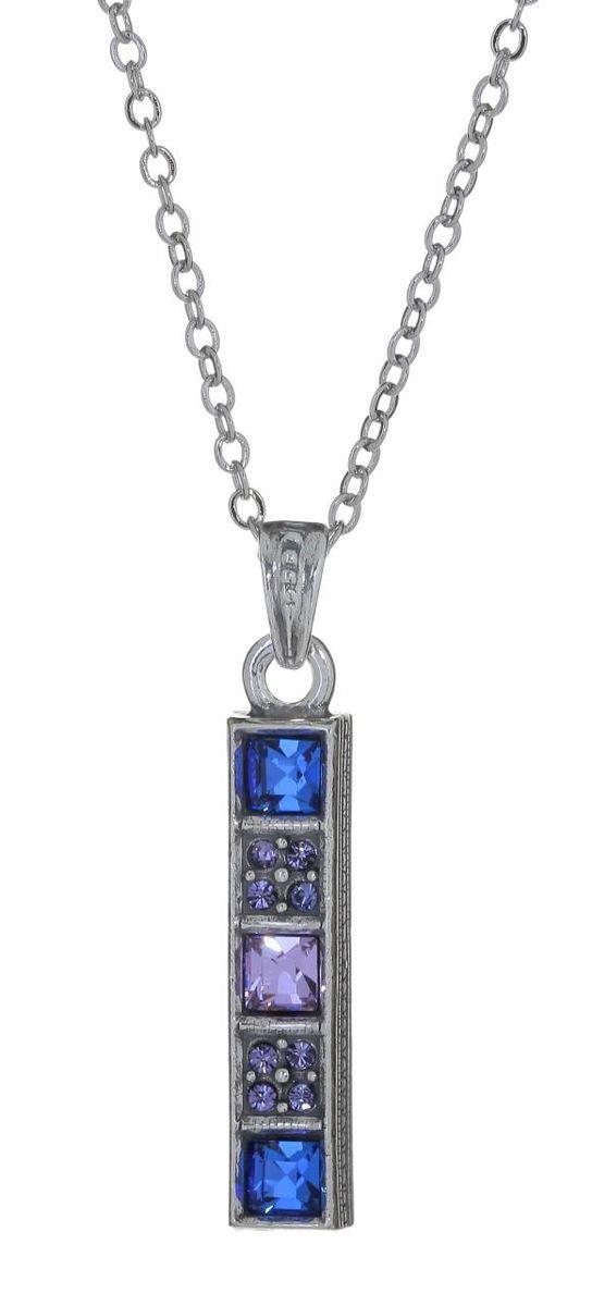 "Кулон Jenavi ""Бештау"", цвет: серебряный, синий, сиреневый. e6403970"