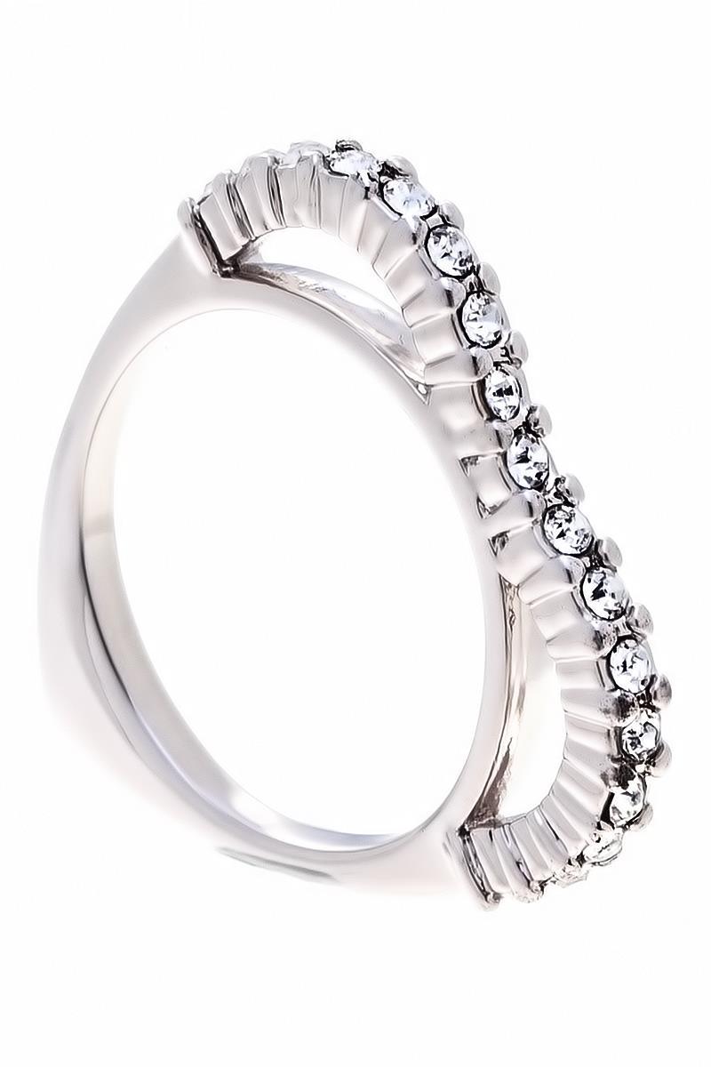Кольцо Jenavi Коллекция Teona Меави, цвет: серебряный, белый. f420f000. Размер 17f420f000Коллекция Teona, Меави (Кольцо) гипоаллергенный ювелирный сплав,Серебрение c род. , вставка Кристаллы Swarovski , цвет - серебряный, белый, размер - 17 избегать взаимодействия с водой и химическими средствами