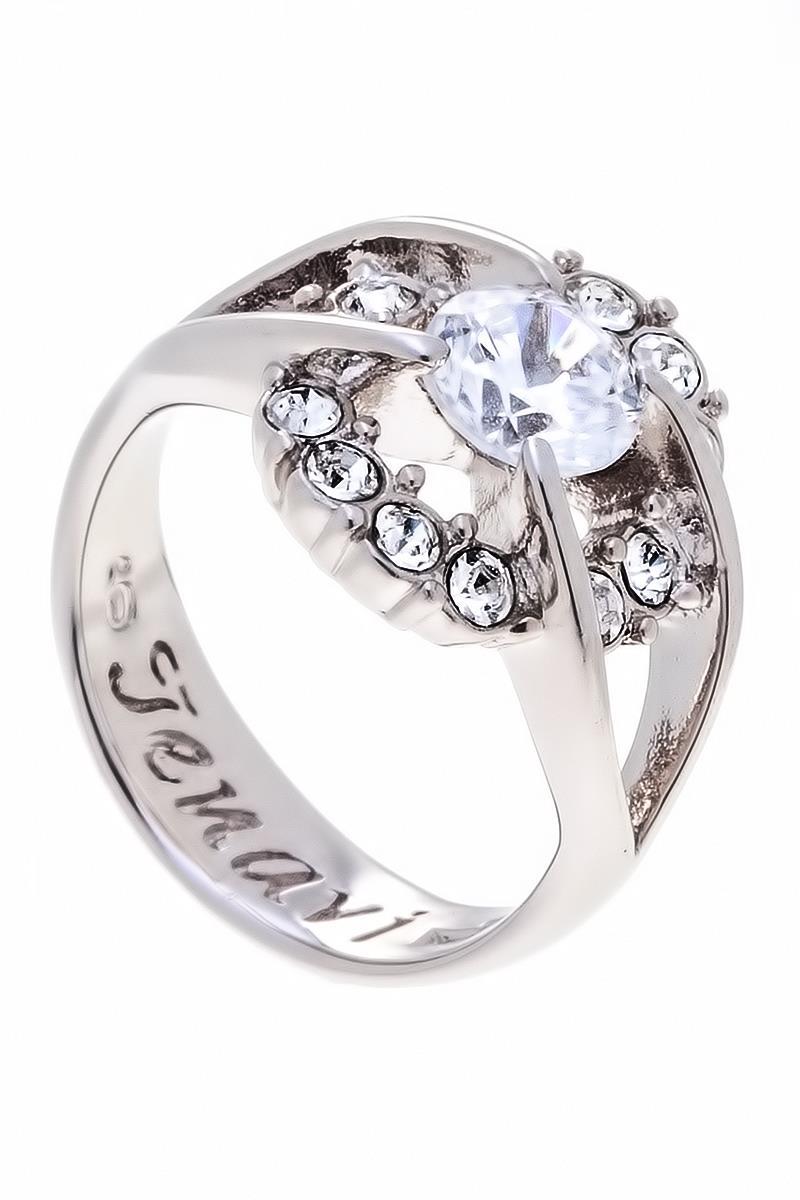 Кольцо Jenavi Коллекция Teona Фрате, цвет: серебряный, белый. f423f0a0. Размер 19f423f0a0Коллекция Teona, Фрате (Кольцо) гипоаллергенный ювелирный сплав,Серебрение c род. , вставка Фианит , цвет - серебряный, белый, размер - 19 избегать взаимодействия с водой и химическими средствами