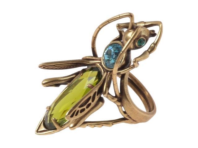 Кольцо Jenavi Коллекция Эскарбахо Кузнечик, цвет: бронзовый, зеленый. h618w030. Размер 18h618w030Коллекция Эскарбахо, Кузнечик (Кольцо) гипоаллергенный ювелирный сплав,Бронзовое покрытие, вставка Кристаллы Swarovski , цвет - бронзовый, зеленый, размер - 18 избегать взаимодействия с водой и химическими средствами