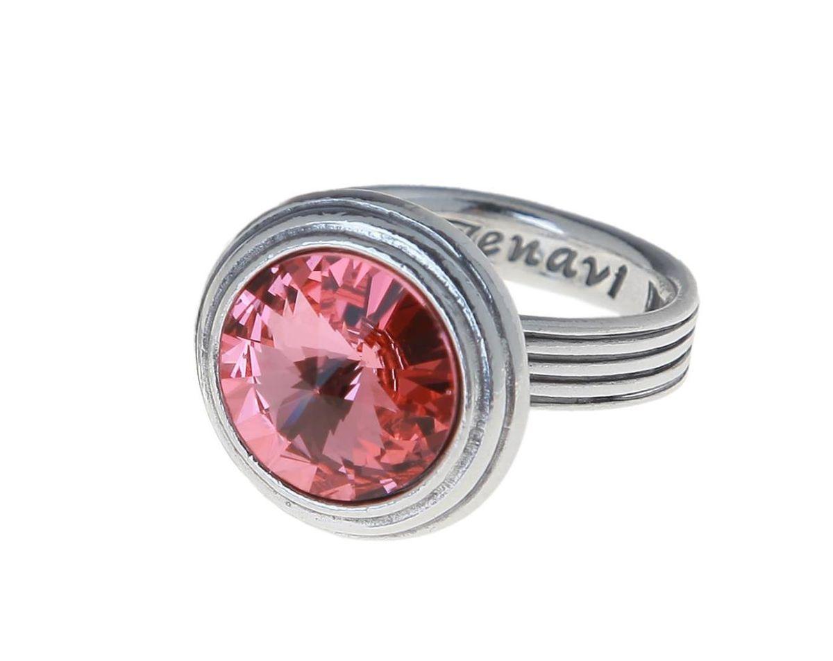 Кольцо Jenavi Эмбаси, цвет: серебряный, розовый. j1713012. Размер 19j1713012Стильное кольцо Jenavi Эмбаси выполнено из гипоаллергенного ювелирного сплава и оформлено кристаллом Swarovski. Стильное кольцо придаст вашему образу изюминку, подчеркнет индивидуальность.
