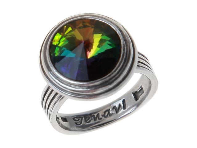 Кольцо Jenavi Эмбаси, цвет: серебряный, зеленый. j1713030. Размер 17j1713030Стильное кольцо Jenavi Эмбаси выполнено из гипоаллергенного ювелирного сплава и оформлено кристаллом Swarovski. Стильное кольцо придаст вашему образу изюминку, подчеркнет индивидуальность.