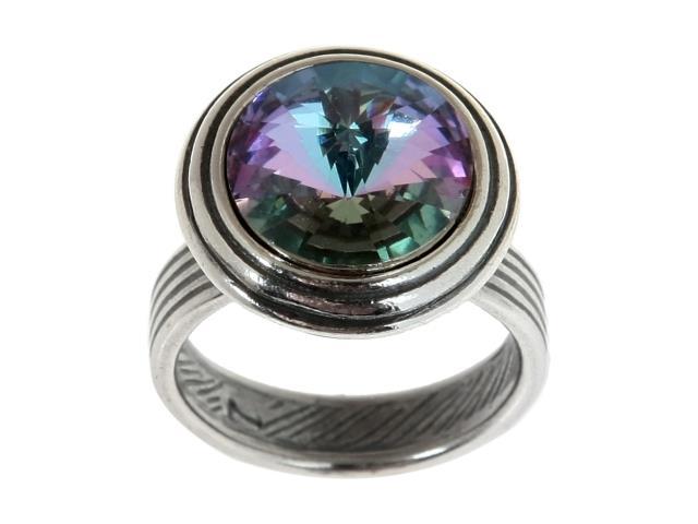 Кольцо Jenavi Коллекция Радиус Эмбаси, цвет: серебряный, фиолетовый. j1713050. Размер 17j1713050Коллекция Радиус, Эмбаси (Кольцо) гипоаллергенный ювелирный сплав,Черненое серебро, вставка Кристаллы Swarovski , цвет - серебро, фиолетовый, размер - 17 избегать взаимодействия с водой и химическими средствами