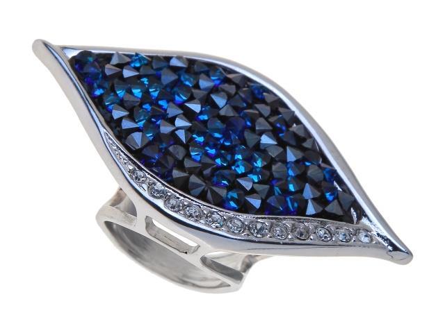 Кольцо Jenavi Коллекция Шик Ангелика, цвет: серебряный, голубой. j334f040. Размер 16j334f040Коллекция Шик, Ангелика (Кольцо) гипоаллергенный ювелирный сплав,Серебрение c род. , вставка Кристаллы Swarovski , цвет - серебряный, голубой, размер - 16 избегать взаимодействия с водой и химическими средствами