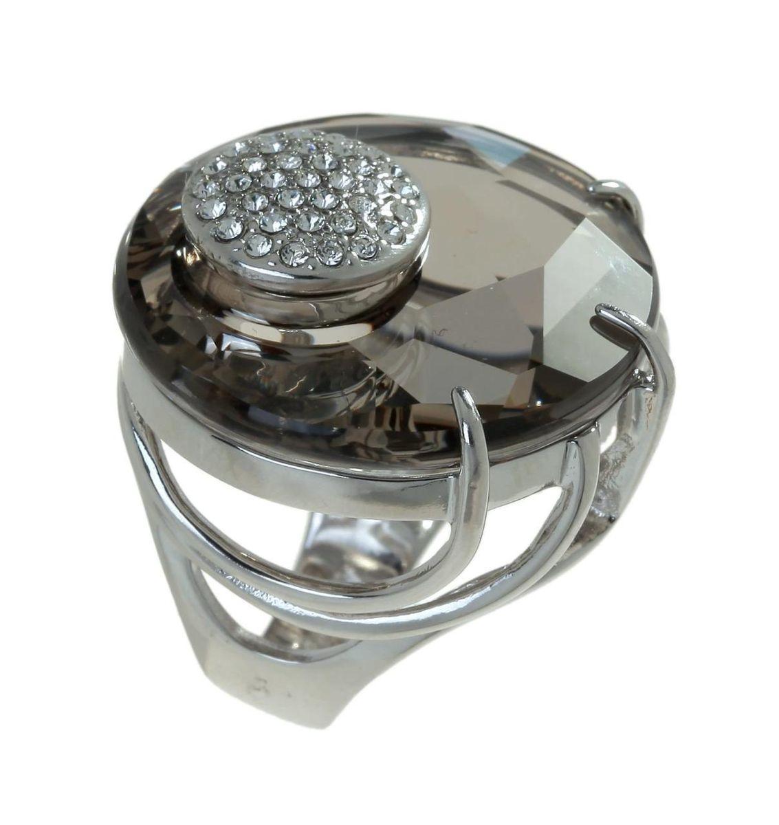 Кольцо Jenavi Коллекция Bubbles Ятру, цвет: серебряный, серый. j704f066. Размер 20j704f066Коллекция Bubbles, Ятру (Кольцо) гипоаллергенный ювелирный сплав,Серебрение c род. , вставка Кристаллы Swarovski , цвет - серебряный, серый, размер - 20 избегать взаимодействия с водой и химическими средствами