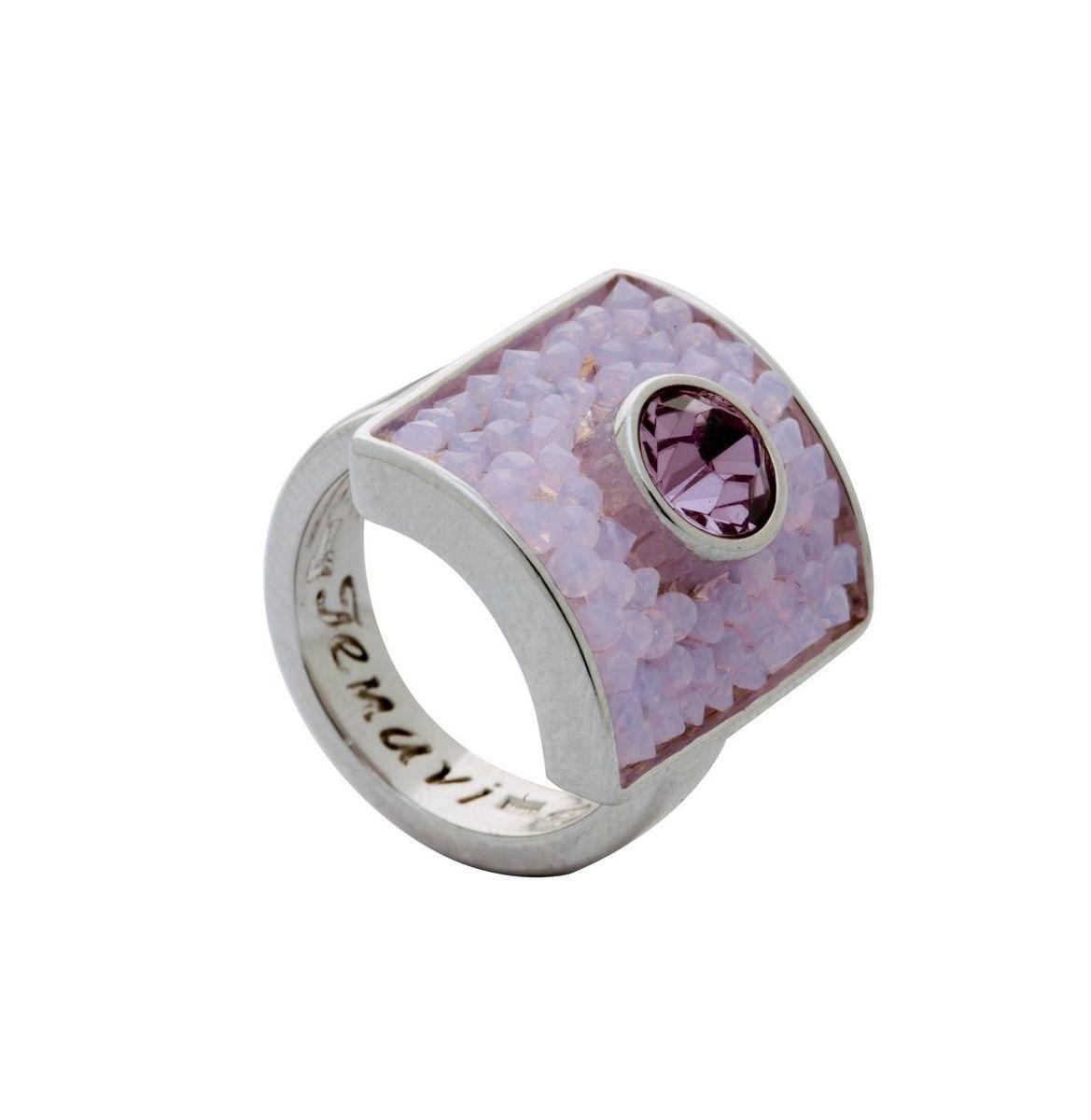 Кольцо Jenavi Майлон, цвет: серебряный, розовый. j938f010. Размер 19j938f010Элегантное кольцо Jenavi Майлон выполнено из гипоаллергенного ювелирного сплава и оформлено кристаллами Swarovski. Стильное кольцо придаст вашему образу изюминку, подчеркнет индивидуальность.