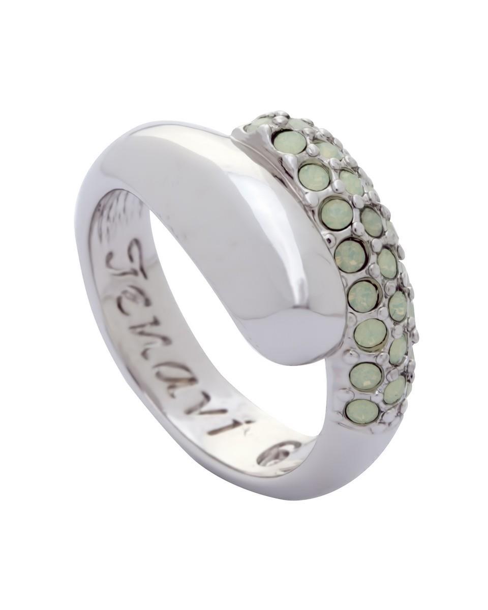 Кольцо Jenavi Коллекция Озон Литела, цвет: серебряный, белый. j947f003. Размер 18j947f003Коллекция Озон, Литела (Кольцо) гипоаллергенный ювелирный сплав,Серебрение c род. , вставка Кристаллы Swarovski , цвет - серебряный, белый, размер - 18 избегать взаимодействия с водой и химическими средствами