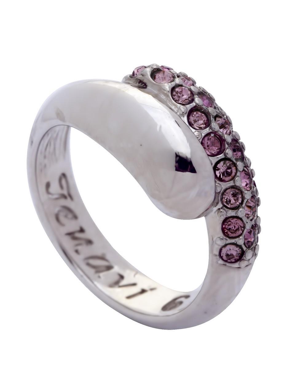 Кольцо Jenavi Коллекция Озон Литела, цвет: серебряный, розовый. j947f010. Размер 17j947f010Коллекция Озон, Литела (Кольцо) гипоаллергенный ювелирный сплав,Серебрение c род. , вставка Кристаллы Swarovski , цвет - серебряный, розовый, размер - 17 избегать взаимодействия с водой и химическими средствами