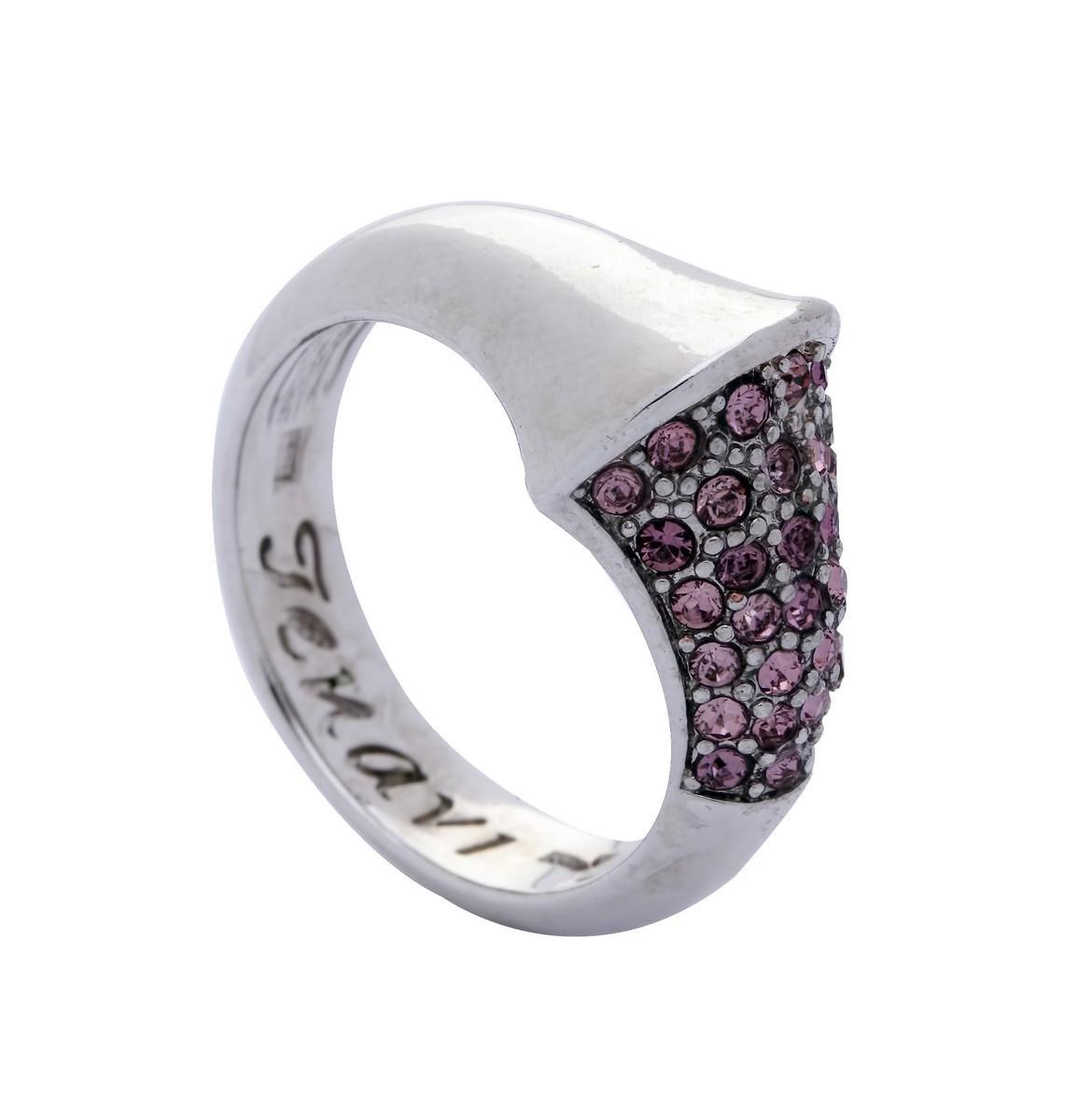 Кольцо Jenavi Коллекция Озон Танака, цвет: серебряный, розовый. j950f010. Размер 17j950f010Коллекция Озон, Танака (Кольцо) гипоаллергенный ювелирный сплав,Серебрение c род. , вставка Кристаллы Swarovski , цвет - серебряный, розовый, размер - 17 избегать взаимодействия с водой и химическими средствами