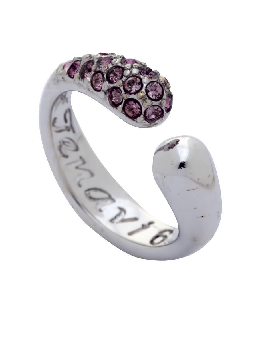 Кольцо Jenavi Коллекция Озон Идка, цвет: серебряный, розовый. j954f010. Размер 17j954f010Коллекция Озон, Идка (Кольцо) гипоаллергенный ювелирный сплав,Серебрение c род. , вставка Кристаллы Swarovski , цвет - серебряный, розовый, размер - 17 избегать взаимодействия с водой и химическими средствами