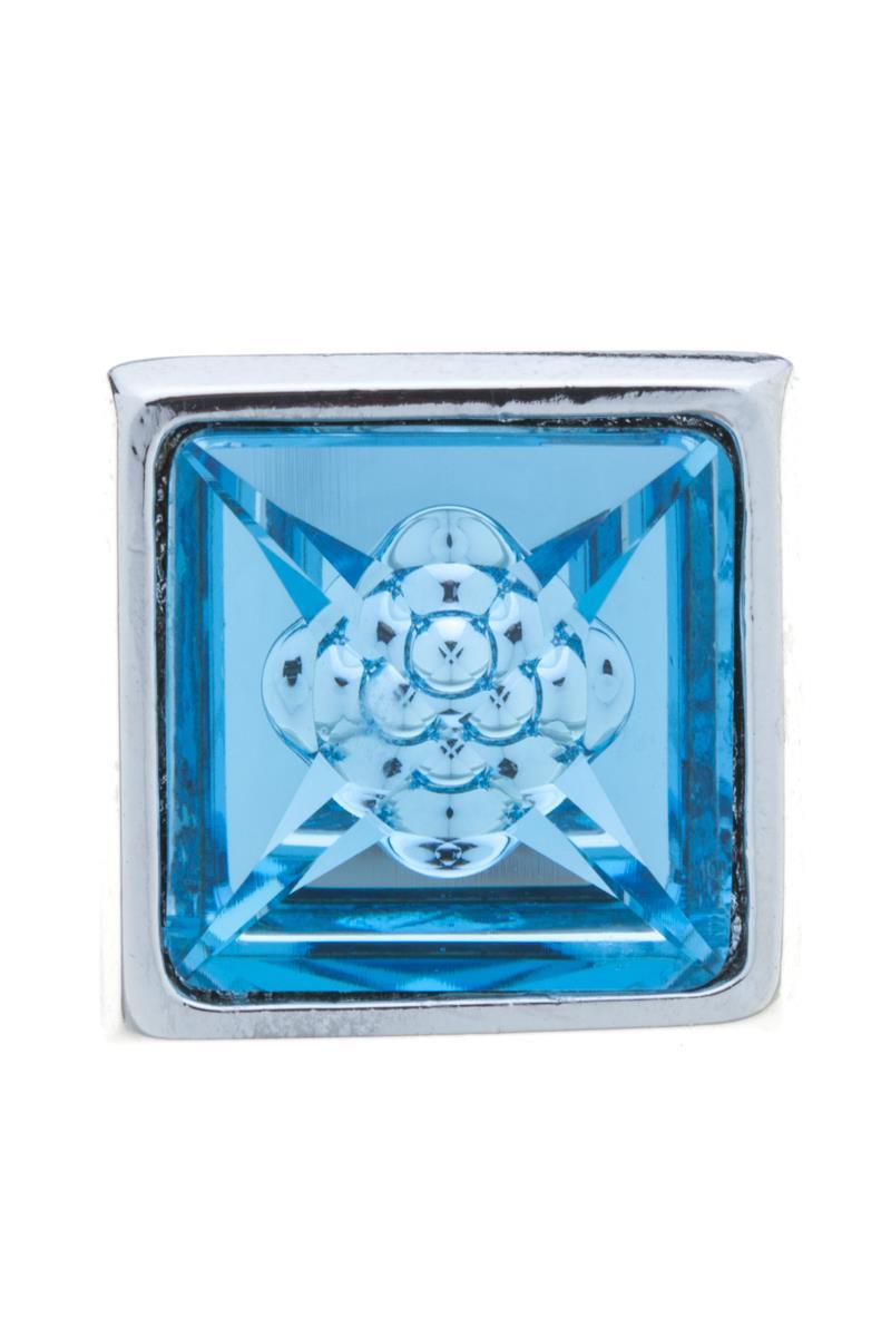 Накладка на кольцо-основу Jenavi Коллекция Ротор Гвинт, цвет: серебряный, голубой. k183fr40. Размер 2\2k183fr40Коллекция Ротор, Гвинт (Накладка,которая одевается на кольцо основу) гипоаллергенный ювелирный сплав,Серебрение c род. , вставка Кристаллы Swarovski , цвет - серебряный, голубой избегать взаимодействия с водой и химическими средствами