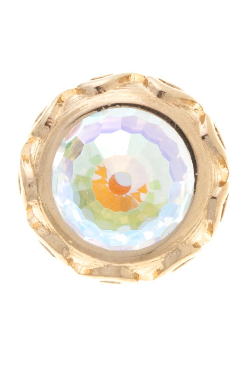 Накладка на кольцо-основу Jenavi Ксавар, цвет: золотой, мультиколор. k187pr70k187pr70Накладка на кольцо-основу Jenavi Ксавар выполнена в виде диска-основы из ювелирного сплава, на котором расположен граненый кристалл Swarovski в форме сферы. Изделие оснащено штифтом с резьбой, при помощи которого накладка фиксируется на кольце-основе. Накладка на кольцо-основу Jenavi позволит экспериментировать и дополнять ваш образ каждый день.