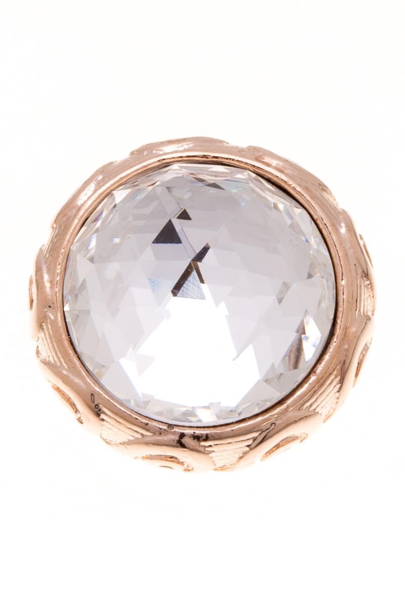Накладка на кольцо-основу Jenavi Ксавар, цвет: золотой, белый. k188pr00k188pr00Накладка на кольцо-основу Jenavi Ксавар выполнена в виде диска-основы из ювелирного сплава, на котором расположен граненый кристалл Swarovski в форме полусферы. Изделие оснащено штифтом с резьбой, при помощи которого накладка фиксируется на кольце-основе. Накладка на кольцо-основу Jenavi позволит экспериментировать и дополнять ваш образ каждый день.