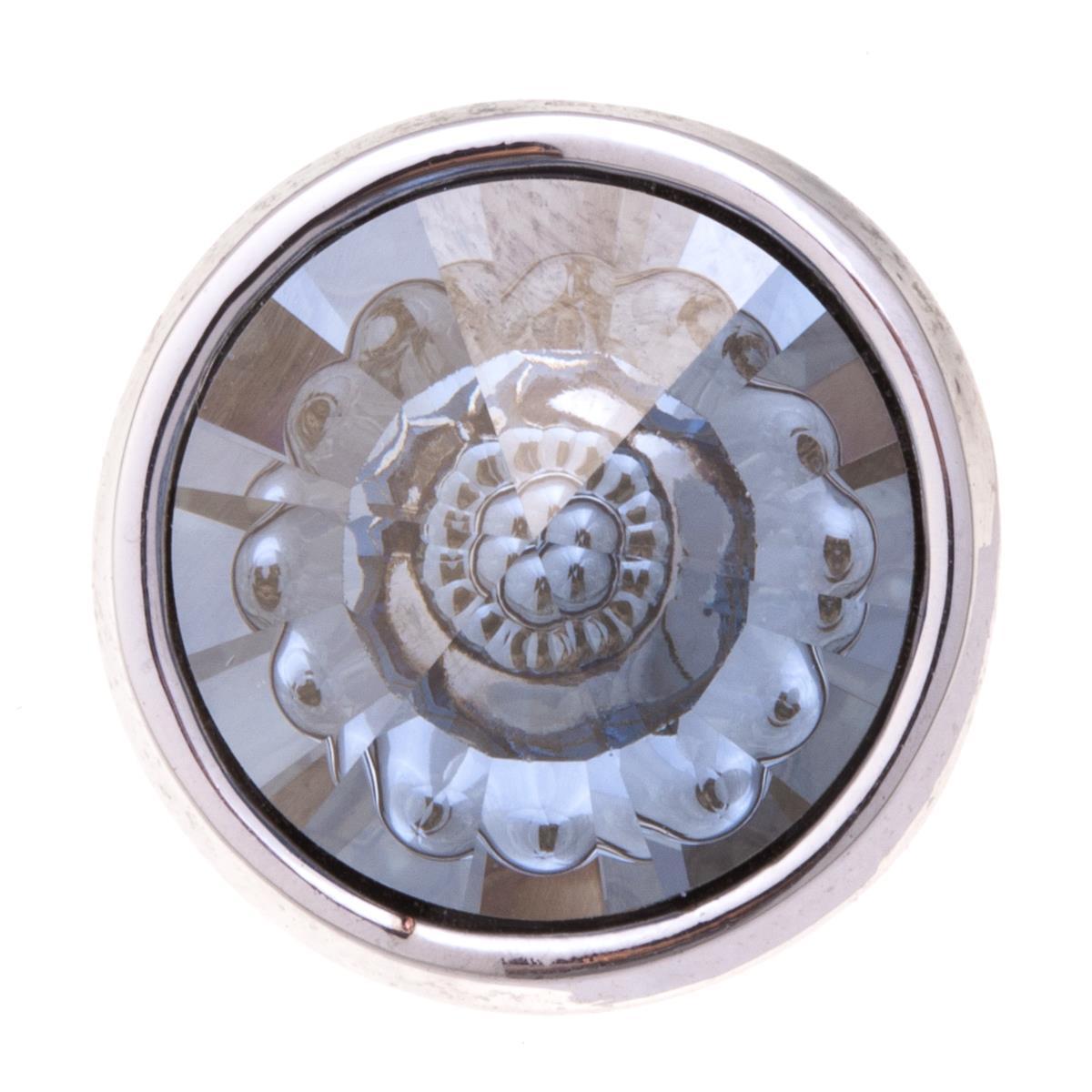 Накладка на кольцо-основу Jenavi Рууви, цвет: серебряный, серый. k189fr46k189fr46Накладка на кольцо-основу Jenavi Рууви выполнена из ювелирного сплава и дополнена граненым кристаллом Swarovski. Внутри кристалла находится причудливый цветок. Изделие оснащено штифтом с резьбой, при помощи которого накладка фиксируется на кольце-основе. Накладка на кольцо-основу Jenavi позволит экспериментировать и дополнять ваш образ каждый день.