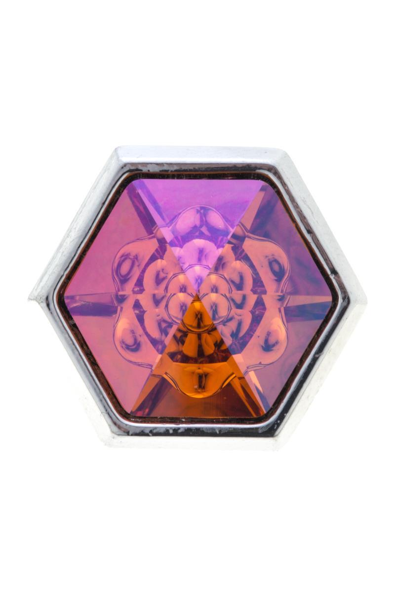 Накладка на кольцо-основу Jenavi Скрауб, цвет: серебряный, оранжевый. k190fr11k190fr11Накладка на кольцо-основу Jenavi Скрауб выполнена в виде шестигранника из ювелирного сплава, который дополнен граненым кристаллом Swarovski. Внутри кристалла находится причудливый цветок. Изделие оснащено штифтом с резьбой, при помощи которого накладка фиксируется на кольце-основе. Накладка на кольцо-основу Jenavi позволит экспериментировать и дополнять ваш образ каждый день.