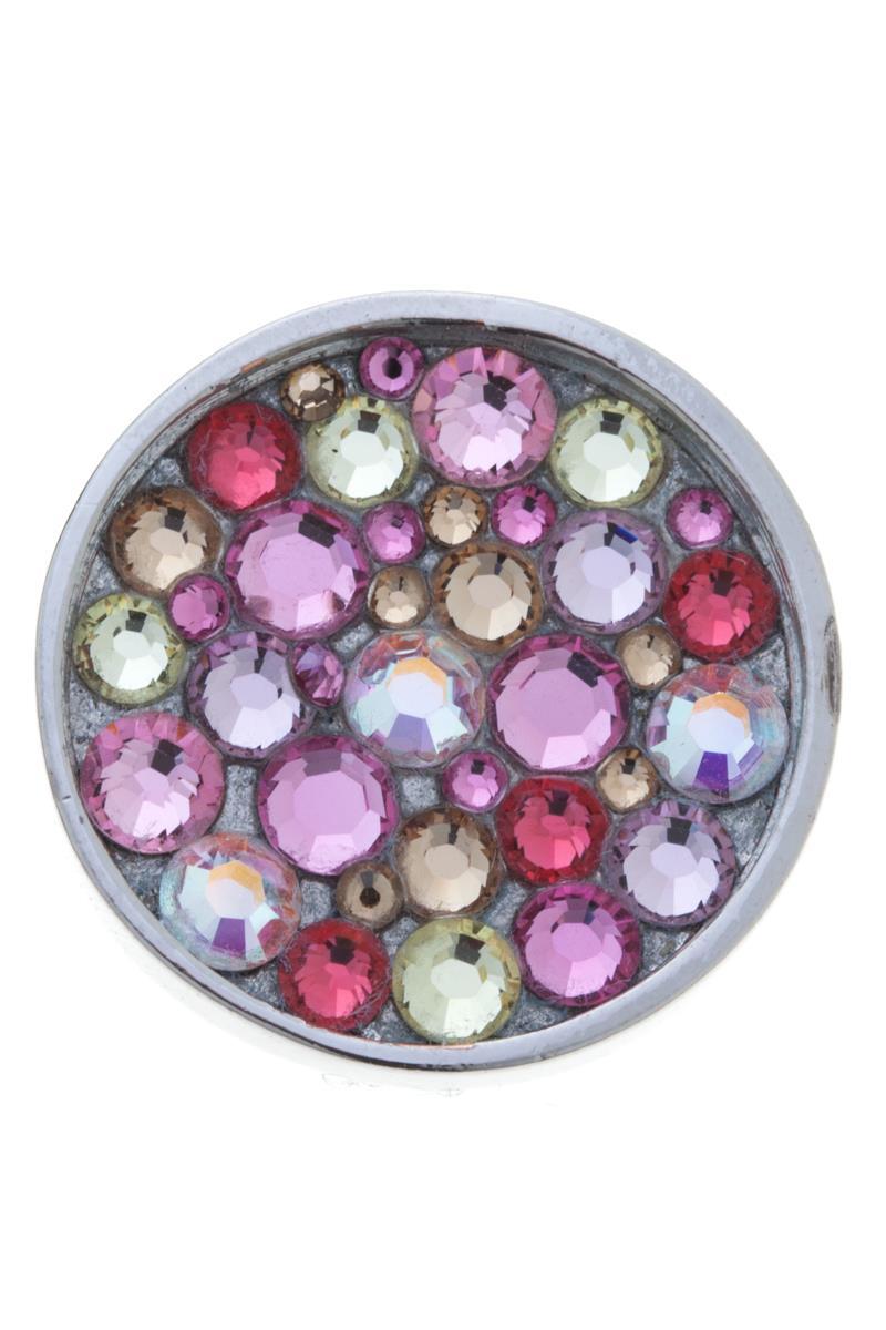 Накладка на кольцо-основу Jenavi Сцрев, цвет: серебряный, розовый, желтый, красный. k193fr10k193fr10Накладка на кольцо-основу Jenavi Сцрев выполнена в виде диска из ювелирного сплава, который оформлен россыпью кристаллов Swarovski. Изделие оснащено штифтом с резьбой, при помощи которого накладка фиксируется на кольце-основе. Накладка на кольцо-основу Jenavi позволит экспериментировать и дополнять ваш образ каждый день.