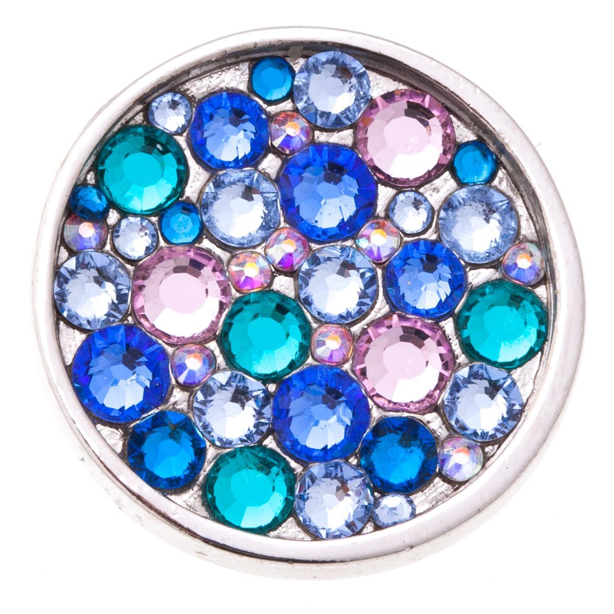 Накладка на кольцо-основу Jenavi Сцрев, цвет: серебряный, голубой, розовый, синий. k193fr40k193fr40Накладка на кольцо-основу Jenavi Сцрев выполнена в виде диска из ювелирного сплава, который оформлен россыпью кристаллов Swarovski. Изделие оснащено штифтом с резьбой, при помощи которого накладка фиксируется на кольце-основе. Накладка на кольцо-основу Jenavi позволит экспериментировать и дополнять ваш образ каждый день.
