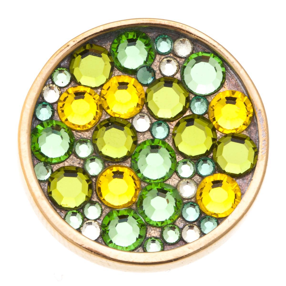 Накладка на кольцо-основу Jenavi Сцрев, цвет: золотой, желтый, зеленый, салатовый. k193pr23k193pr23Накладка на кольцо-основу Jenavi Сцрев выполнена в виде диска из ювелирного сплава, который оформлен россыпью кристаллов Swarovski. Изделие оснащено штифтом с резьбой, при помощи которого накладка фиксируется на кольце-основе. Накладка на кольцо-основу Jenavi позволит экспериментировать и дополнять ваш образ каждый день.