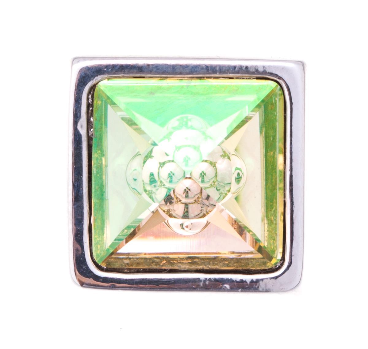 Накладка на кольцо-основу Jenavi Коллекция Ротор Вис, цвет: серебряный, мультиколор. k195fr23. Размер 1,5x1,5k195fr23Коллекция Ротор, Вис (Накладка,которая одевается на кольцо основу) гипоаллергенный ювелирный сплав,Серебрение c род. , вставка Кристаллы Swarovski , цвет - серебряный, мультиколор избегать взаимодействия с водой и химическими средствами