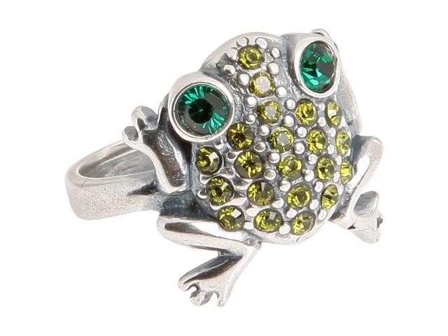 Кольцо Jenavi Анура, цвет: серебряный, зеленый, салатовый. m3623030. Размер 17m3623030Элегантное кольцо Jenavi Анура выполнено из гипоаллергенного ювелирного сплава, оформлено декоративным элементом в виде лягушки, который дополнен кристаллами Swarovski. Стильное кольцо придаст вашему образу изюминку, подчеркнет индивидуальность.