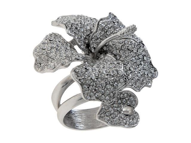 Кольцо Jenavi Кордия, цвет: серебряный, белый. r359f000. Размер 16r359f000Стильное кольцо Jenavi Кордия выполнено в виде цветка гибискуса с листочком из гипоаллергенного ювелирного сплава с серебрением, оформлено кристаллами Swarovski. Основа изделия выполнена в виде литой пружины. Оригинальное кольцо Jenavi превосходно дополнит ваш образ и подчеркнет отменное чувство стиля своей обладательницы.