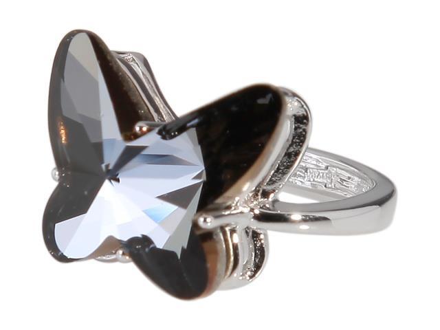 Кольцо Jenavi Коллекция Ах! Лето... Рамболь, цвет: серебряный, черный. r423f060. Размер 16r423f060Коллекция Ах! Лето..., Рамболь (Кольцо) гипоаллергенный ювелирный сплав,Серебрение c род. , вставка Кристаллы Swarovski , цвет - серебряный, черный, размер - 16 избегать взаимодействия с водой и химическими средствами