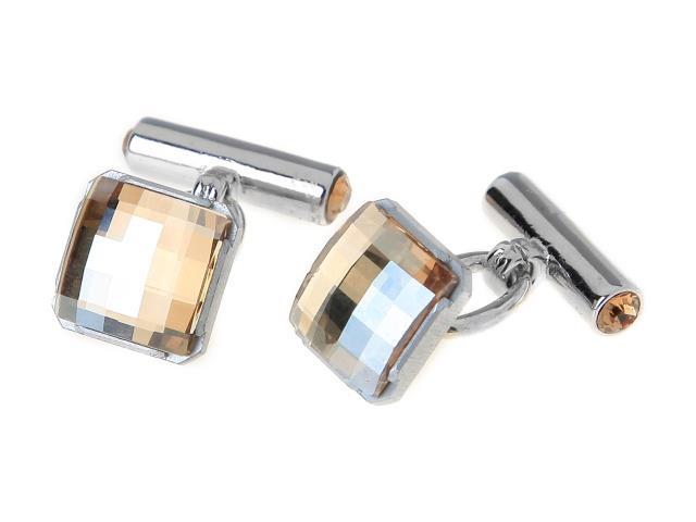 Запонки Jenavi Жерве, цвет: серебряный, желтый. r490fz20r490fz20Стильные запонки Jenavi Жерве выполнены из ювелирного сплава с покрытием серебра и родия. Каждое изделие имеет квадратную форму и оформлено кристаллом и стразами Swarowski. Модель фиксируется с помощью замка-цепочки. Стильный аксессуар подчеркнет ваш костюм, а также придаст элегантность и неповторимость имиджу. Запонки Jenavi Жерве - последний штрих, последняя маленькая точка в вашем облике.