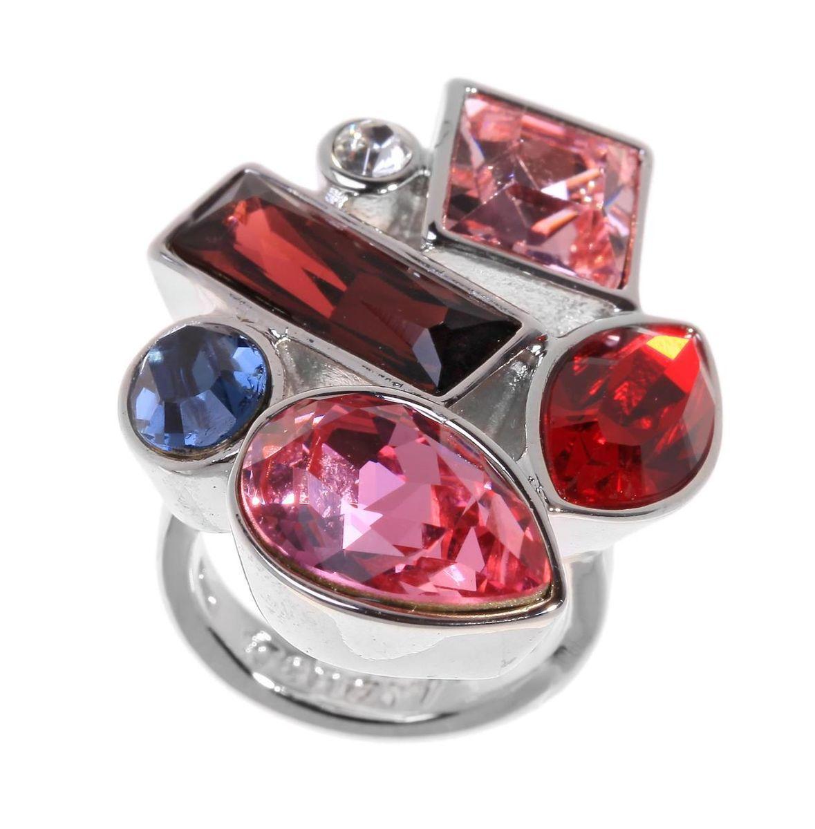 Кольцо Jenavi Коллекция Виктуар SW Элюар, цвет: серебряный, красный. r597f016. Размер 21r597f016Коллекция Виктуар SW, Элюар (Кольцо) гипоаллергенный ювелирный сплав,Серебрение c род. , вставка Кристаллы Swarovski , цвет - серебряный, красный, размер - 21 избегать взаимодействия с водой и химическими средствами