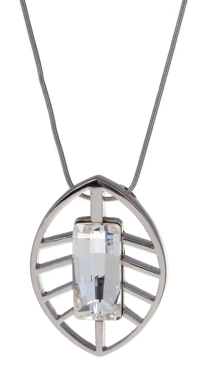 Кулон Jenavi Коллекция Грани Геалея, цвет: серебряный, белый. r639f900. Размер 3,5x4,5, цепь 63r639f900Коллекция Грани, Геалея (Кулон) гипоаллергенный ювелирный сплав,Серебрение c род. , вставка Кристаллы Swarovski , цвет - серебряный, белый избегать взаимодействия с водой и химическими средствами