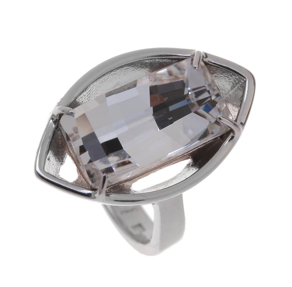 Кольцо Jenavi Коллекция Грани Диандера, цвет: серебряный, белый. r640f000. Размер 19r640f000Коллекция Грани, Диандера (Кольцо) гипоаллергенный ювелирный сплав,Серебрение c род. , вставка Кристаллы Swarovski , цвет - серебряный, белый, размер - 19 избегать взаимодействия с водой и химическими средствами