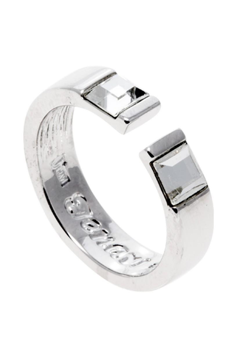 Кольцо Jenavi Коллекция Quadro Тайвутус, цвет: серебряный, белый. r837f000. Размер 16r837f000Коллекция Quadro, Тайвутус (Кольцо) гипоаллергенный ювелирный сплав,Серебрение c род. , вставка Кристаллы Swarovski , цвет - серебряный, белый, размер - 16 избегать взаимодействия с водой и химическими средствами