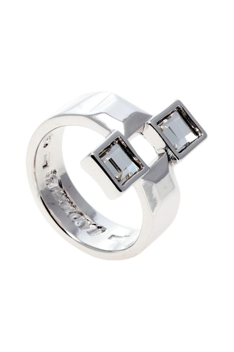 Кольцо Jenavi Коллекция Quadro Квадре, цвет: серебряный, белый. r842f000. Размер 18r842f000Коллекция Quadro, Квадре (Кольцо) гипоаллергенный ювелирный сплав,Серебрение c род. , вставка Кристаллы Swarovski , цвет - серебряный, белый, размер - 18 избегать взаимодействия с водой и химическими средствами