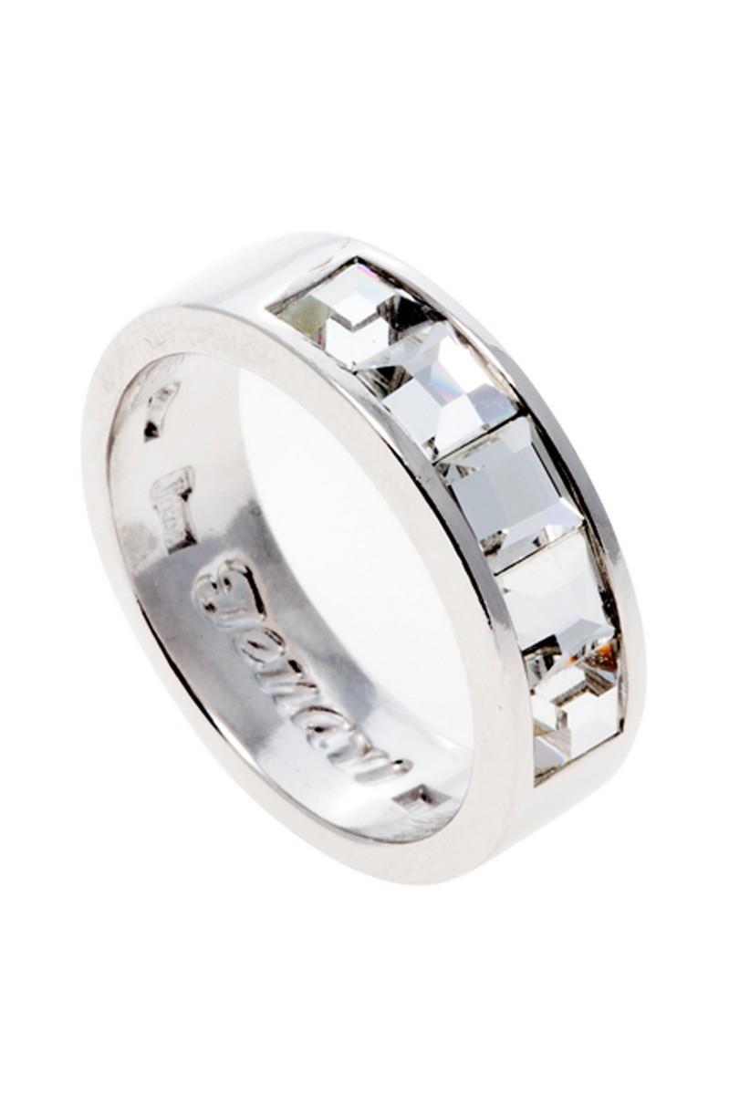 Кольцо Jenavi Коллекция Quadro Нелио, цвет: серебряный, белый. r846f000. Размер 16r846f000Коллекция Quadro, Нелио (Кольцо) гипоаллергенный ювелирный сплав,Серебрение c род. , вставка Кристаллы Swarovski , цвет - серебряный, белый, размер - 16 избегать взаимодействия с водой и химическими средствами