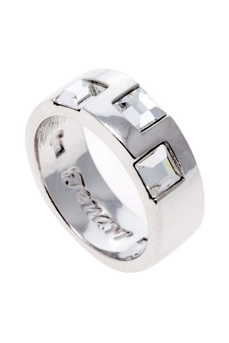 Кольцо Jenavi Вотоатину, цвет: серебряный, белый. r848f000. Размер 16r848f000Элегантное кольцо Jenavi Вотоатину выполнено из гипоаллергенного ювелирного сплава, оформлено гранеными кристаллами Swarovski. Стильное кольцо придаст вашему образу изюминку, подчеркнет индивидуальность.