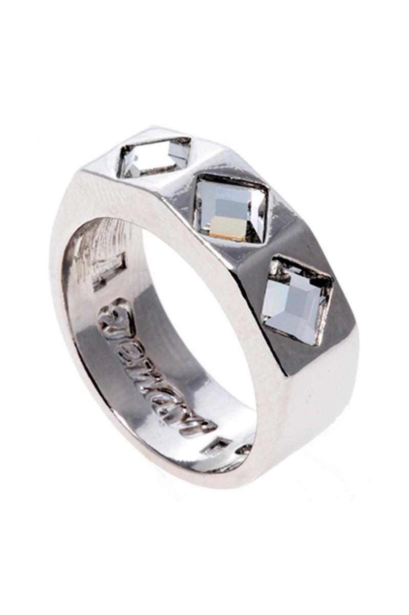 Кольцо Jenavi Коллекция Quadro Контексте, цвет: серебряный, белый. r850f000. Размер 16r850f000Коллекция Quadro, Контексте (Кольцо) гипоаллергенный ювелирный сплав,Серебрение c род. , вставка Кристаллы Swarovski , цвет - серебряный, белый, размер - 16 избегать взаимодействия с водой и химическими средствами