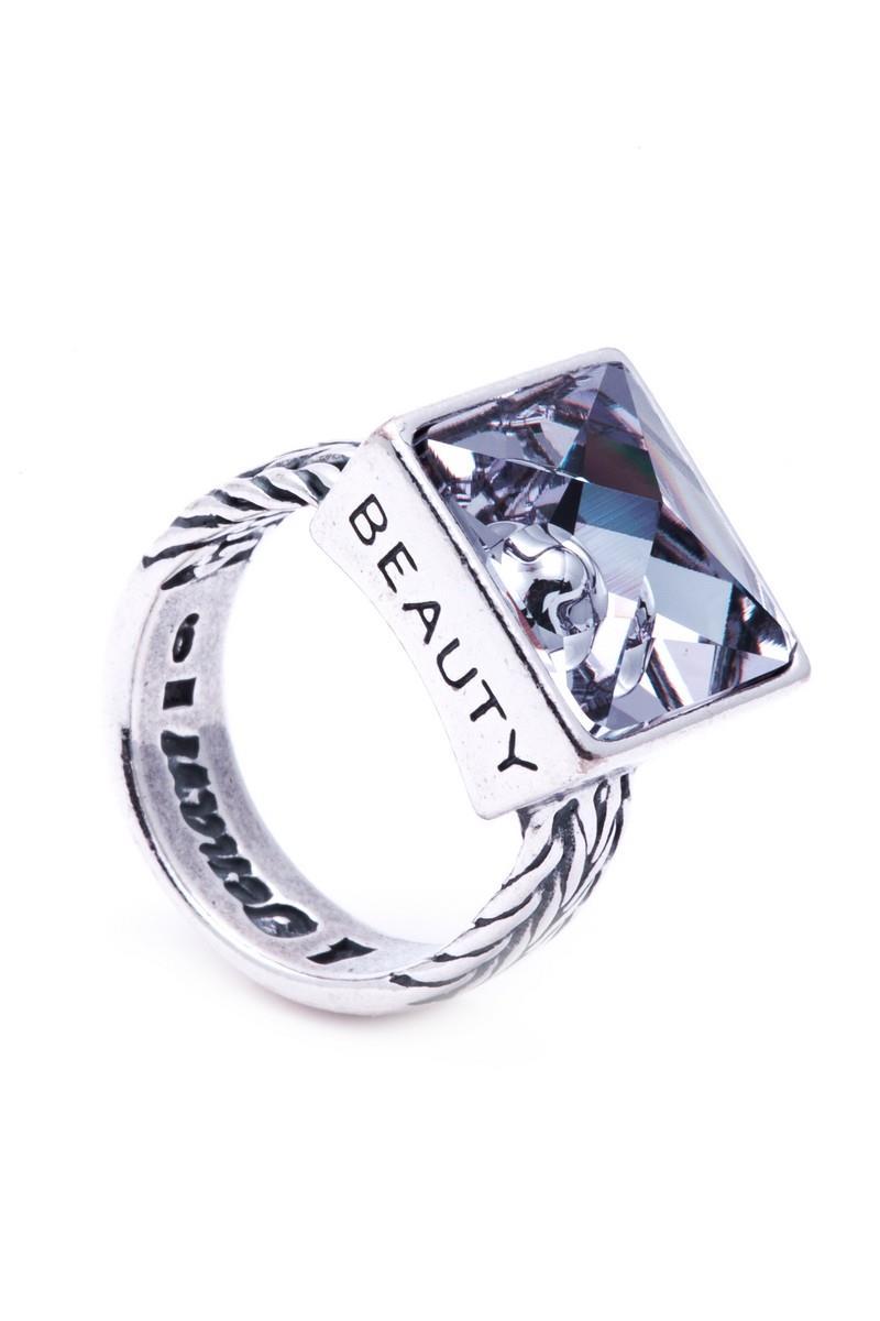 Кольцо Jenavi Коллекция Relax Релакс, цвет: серебряный, серый. r9743066. Размер 17r9743066Коллекция Relax, Релакс (Кольцо) гипоаллергенный ювелирный сплав,Черненое серебро, вставка Кристаллы Swarovski , цвет - серебро, серый, размер - 17 избегать взаимодействия с водой и химическими средствами