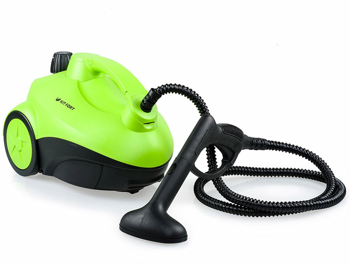 Kitfort KT-909 пароочистительKT-909Пароочиститель Kitfort КТ-909 - многофункциональный аппарат, способный заменить моющий пылесос, дезинфектор, стеклоочиститель, отпариватель для тканей. Используя силу горячего пара, пароочиститель великолепно очищает любые поверхности и обеспечивает деликатную глажку вещей. Прибор очень удобен в использовании, и работа с ним не требует от пользователя каких-то особых навыков и умений. Устройство безопасно для здоровья человека и не приносит вреда окружающей среде. Горячий пар под давлением может удалять грязь, жир и известковые отложения с различных поверхностей, убивать патогенные микроорганизмы, бактерии и домашних клещей, которые могут вызывать аллергические реакции и астму. Сухой пар быстро испаряется, не оставляя следов влаги на поверхности. При очистке поверхностей паром не требуется применения химических чистящих средств, что улучшает экологию дома, и также позволяет сэкономить на покупке чистящих средств. Напряжение: 220 В, 50 Гц ...
