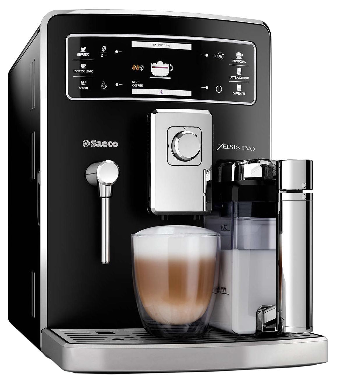 Philips Saeco HD8953/09 Xelsis Evo кофемашинаHD8953/09Создание разных напитков для нескольких пользователей благодаря графину для молока с функцией автоматической двойной очистки. С кофемашиной Xelsis Evo каждый член семьи сможет наслаждаться изумительным вкусом любимого кофе. Благодаря уникальной функции можно создать до 6 профилей и сохранить до 9 программ приготовления для каждого профиля. 100%-но керамические жернова: Надежные 100%-но керамические жернова гарантируют наслаждение отличным кофе в течение долгих лет. Керамика обеспечивает идеальный помол зерен, благодаря чему вода равномерно проникает в них, впитывая вкус и аромат. В отличие от обычных, керамические жернова не перегревают зерна и устраняют жженый привкус напитка. Съемная варочная группа: Эффективность и простота использования были основными критериями при разработке первой варочной группы Saeco 30 лет. Созданная нами технология оправдывает эти принципы и сегодня. Наша варочная группа невероятно удобна в очистке:...