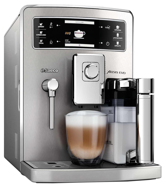 Philips Saeco HD8954/09 Xelsis Evo кофемашинаHD8954/09Превосходная молочная пена благодаря двухкамерному графину. Наслаждайтесь любимыми кофейными напитками с молоком благодаря запатентованному автоматическому двухкамерному графину для молока. Налейте молоко в графин, вставьте его в кофемашину и выберите напиток. Благодаря двухкамерному графину вы сможете профессионально приготовить кофе с густой пенкой идеальной температуры и без разбрызгивания. Автоматическая двойная очистка для гигиеничного взбивания молока. Для непревзойденной гигиеничности эта эспрессо-кофемашина Saeco оснащена полностью автоматической системой двойной очистки кувшина для молока, которая состоит из двух независимых циклов очищения паром. Кувшин быстро очищается после каждого применения, чтобы каждый новый напиток радовал вас свежестью молока. Благодаря автоматической очистке от загрязнений и накипи ваша кофемашина всегда будет идеально чистой. Эспрессо-кофемашина Saeco оснащена технологией автоматической очистки водой перед включением и выключением кофемашины,...