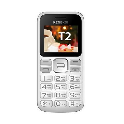 Keneksi T2, WhiteT2 WhiteKeneksi T2 – классический кнопочный телефон, который обязательно привлечет внимание тех, кому нужно простое устройство для общения с базовым набором возможностей. Аппарат легкий и компактный, симпатично выглядит, его можно использовать для телефонных звонков и обмена SMS-сообщениями, прослушивания музыки, просмотра фотографий и видео. Надежный и емкий литий-ионный аккумулятор обеспечивает длительный срок автономной работы. Телефон оснащен 0,3-мегапиксельной камерой, с помощью которой можно сфотографировать то, что привлекло внимание владельца, и сохранить на память важную информацию – например, объявление, вывеску, номер автомобиля. Телефон оснащен двумя слотами для SIM-карт, поэтому владелец может пользоваться с одного аппарата двумя разными номерами. Это можно использовать как для того, чтобы удобно распределить контакты, так и для того, чтобы сэкономить на разнице между тарифами мобильных операторов.