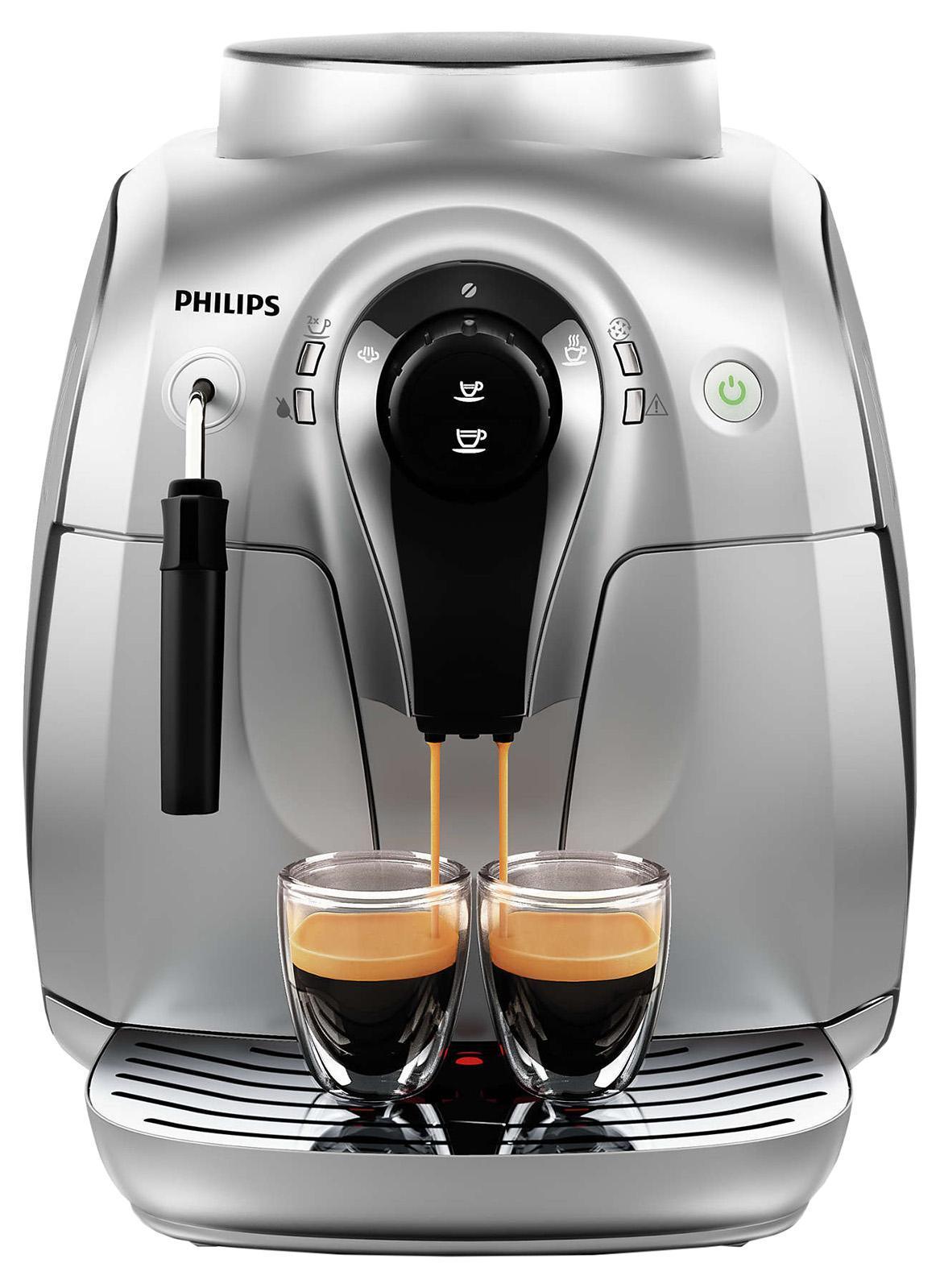 Philips HD8649/51 кофемашинаHD8649/51Эспрессо из свежемолотых кофейных зерен простым нажатием кнопки. Приготовьте одну или сразу две порции превосходного эспрессо, сваренного из свежемолотых кофейных зерен, просто нажав на кнопку и подождав несколько секунд. Потрясающий вкус благодаря 100%-но керамическим жерновамПотрясающий вкус благодаря 100%-но керамическим жерновам. Забудьте о жженом привкусе кофе благодаря 100%-но керамическим жерновам, которые не перегревают зерна. Керамика гарантирует долгий срок службы и бесшумную работу. Регулируемые настройки помола для идеального вкуса кофеРегулируемые настройки помола для идеального вкуса кофе Выберите одну из пяти степеней помола на ваш вкус — от самого тонкого для приготовления насыщенного крепкого эспрессо до самого грубого для более легкого вкуса. Сохраните персональные настройки объема напитка с помощью функции запоминания. Благодаря функции запоминания вы можете запрограммировать и сохранить нужный объем, чтобы всегда готовить любимый кофе так, как вам нравится....