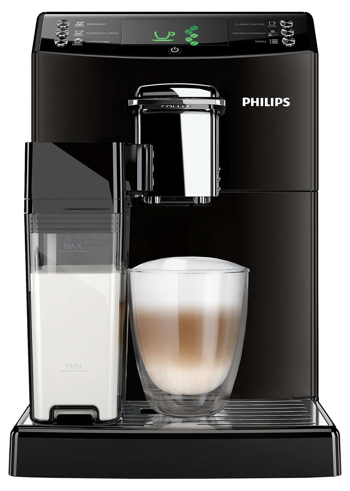 Philips HD8848/09 кофемашинаHD8848/09Эспрессо или классический кофе с помощью функции CoffeeSwitch. Превосходный вкус заварного кофе, приготовленного с помощью автоматической эспрессо-кофемашины! Наслаждайтесь классическим кофе по утрам или крепким эспрессо, просто изменив положение переключателя. Уникальная функция CoffeeSwitch позволяет выбирать идеальный кофейный напиток, приготовленный из свежемолотых зерен, для любого настроения или времени суток. Идеальный капучино с пышной молочной пеной одним нажатием кнопки. Наслаждаться превосходным капучино, приготовленным при идеальной температуре, теперь просто как никогда. Просто наполните молочный кувшин и присоедините его к кофемашине, затем выберите свой напиток. Будет ли это капучино или просто взбитое молоко, приготовление займет всего несколько секунд. При этом не будет никаких брызг. Потрясающий вкус благодаря 100%-но керамическим жерновам. Забудьте о жженом привкусе кофе благодаря 100%-но керамическим жерновам, которые не перегревают зерна. Керамика гарантирует...